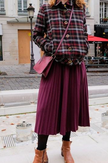 Blouson à carreaux Balzac Paris pour l'automne