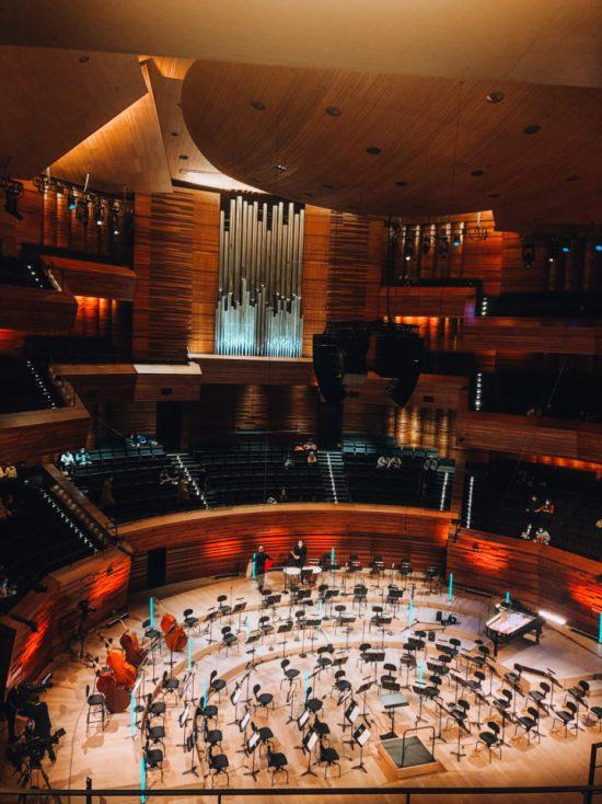 Concert symphonique à la maison de la Radio