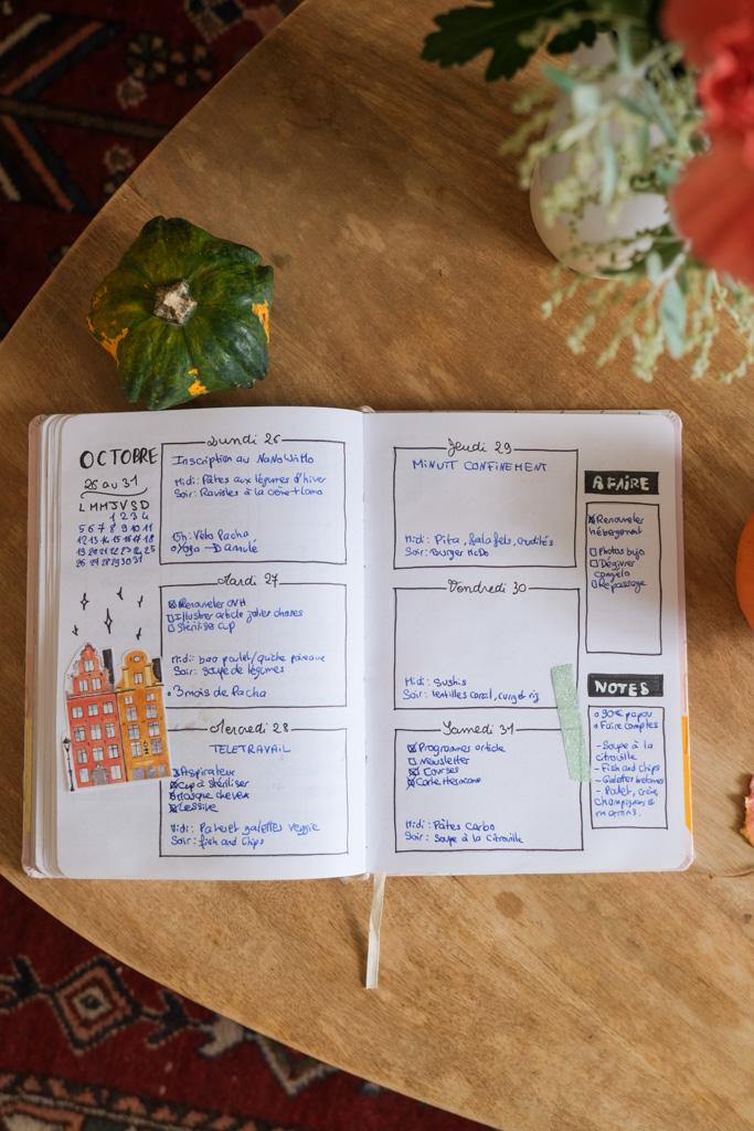 Présentation double page bullet journal