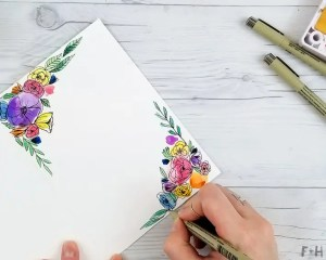 card easy step watercolor mother mothers drawing draw flowers hazel