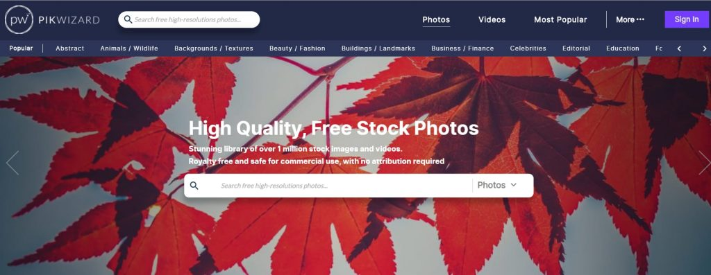 Sites to get high quality stock images