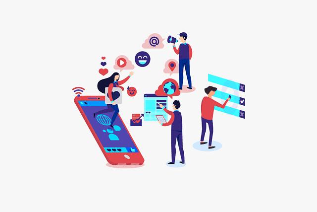 Different content types - illustration