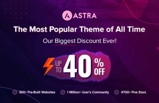 Astra Black Friday Discounts