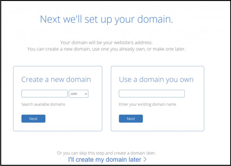 Enter the domain name