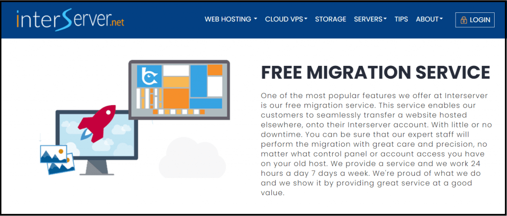 Features of interserver hosting free migration