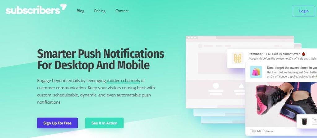 Subscriber.com - Web push notification software and plugin