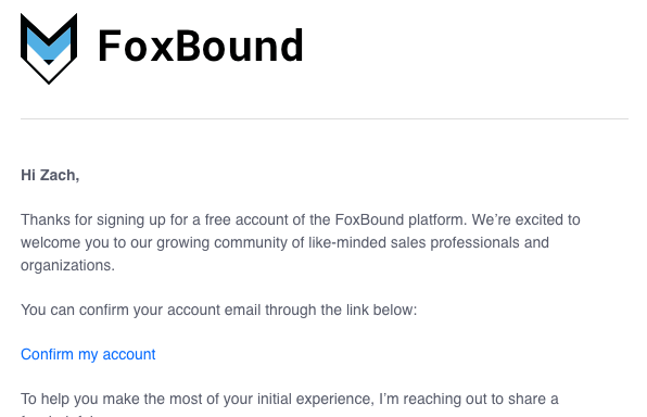 FoxBound Confirmation
