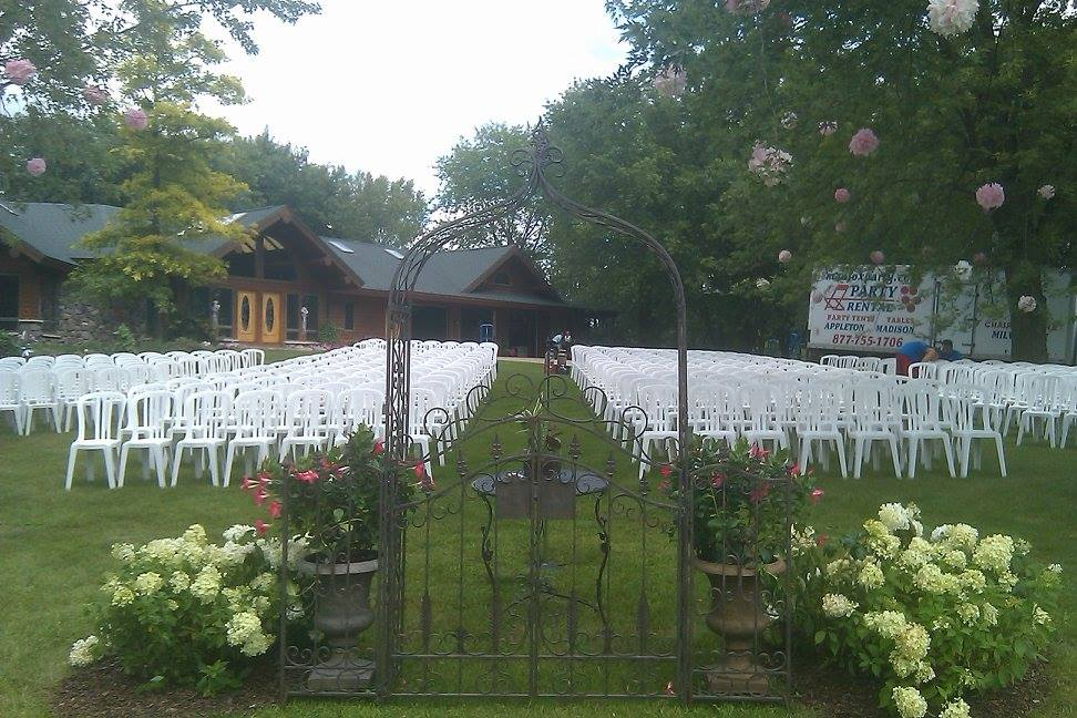 chair cover rentals madison wi upholstered rocking slipcover fox cities party rental in appleton wisconsin launches new website wedding arch stage tent table