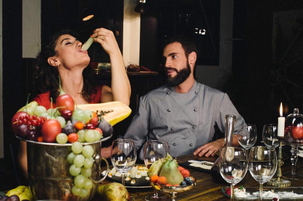 eating healthy fiber food