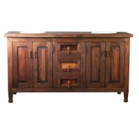 Double Sink Barnwood Vanity Made from Reclaimed Wood for Sale