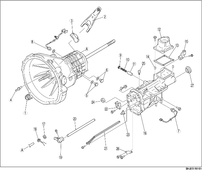 EXTENSION HOUSING COMPONENT DISASSEMBLY