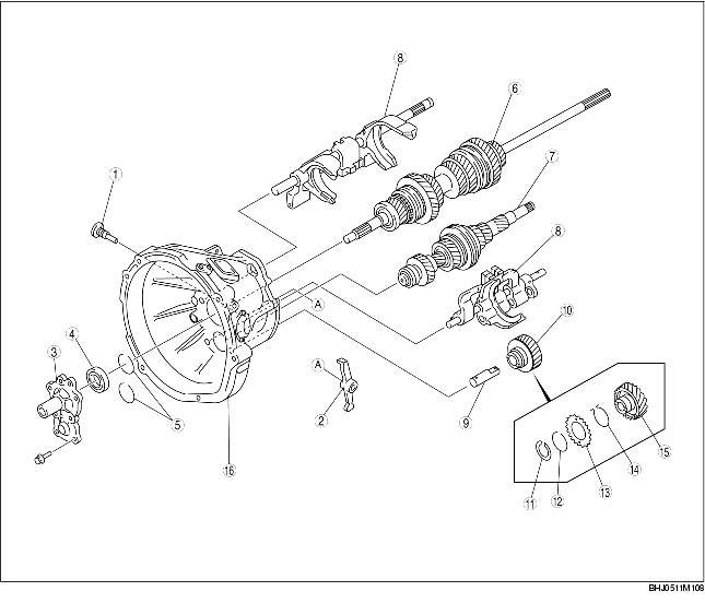 CLUTCH HOUSING COMPONENT DISASSEMBLY