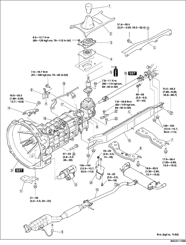 TRANSMISSION REMOVAL/INSTALLATION [R15M-D]