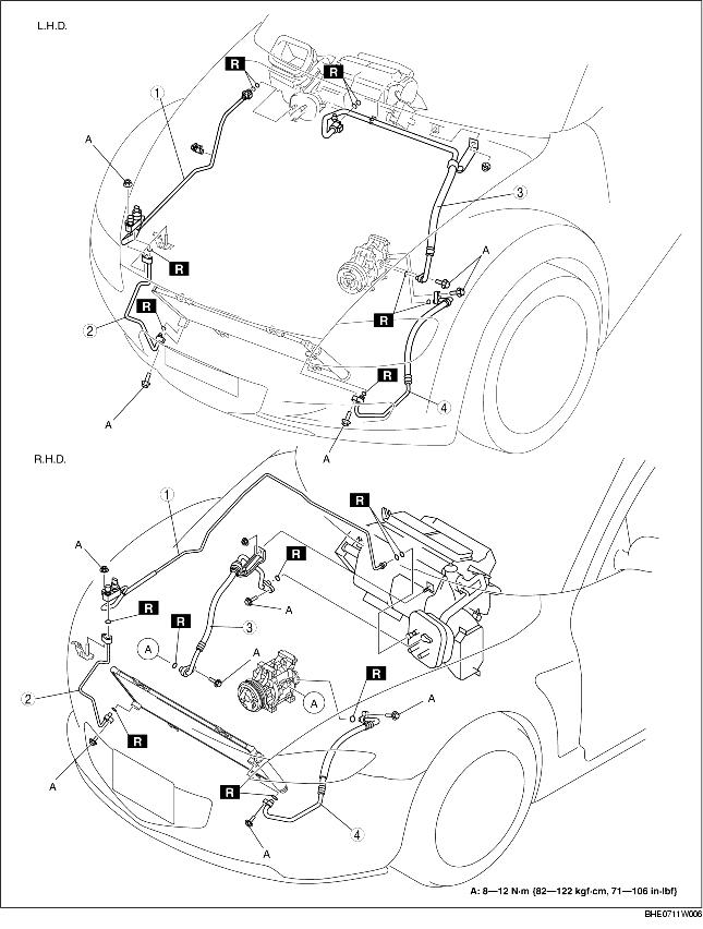 REFRIGERANT LINE REMOVAL/INSTALLATION