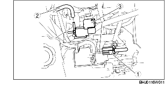 SECONDARY AIR INJECTION (AIR) SOLENOID VALVE REMOVAL