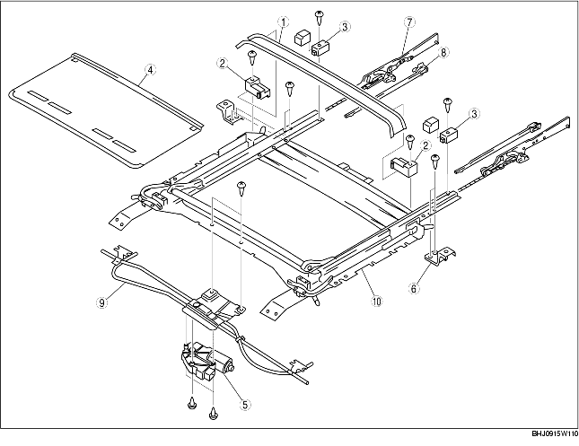 SUNROOF UNIT DISASSEMBLY/ASSEMBLY