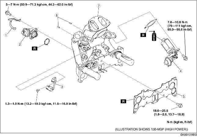 INTAKE MANIFOLD DISASSEMBLY/ASSEMBLY