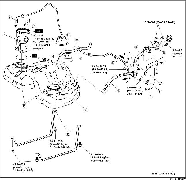 FUEL TANK REMOVAL/INSTALLATION