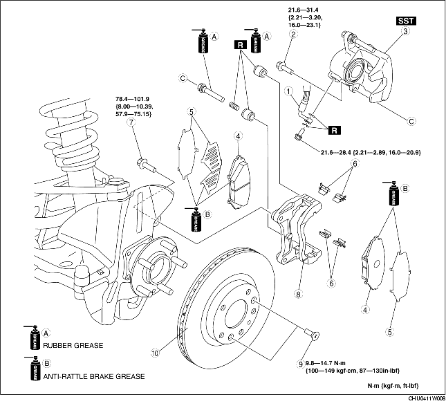 FRONT BRAKE (DISC) REMOVAL/INSTALLATION