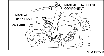 TRANSMISSION RANGE (TR) SWITCH REMOVAL/INSTALLATION