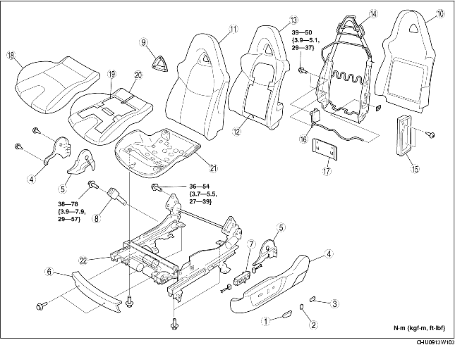 FRONT SEAT DISASSEMBLY/ASSEMBLY