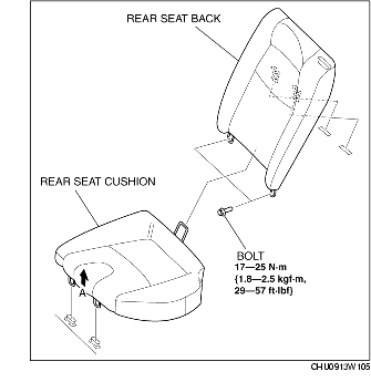 REAR SEAT REMOVAL/INSTALLATION