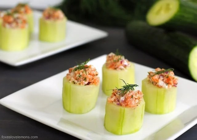 cucumber cups with smoked
