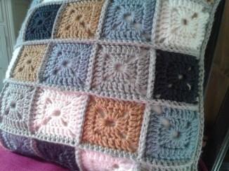 Granny square cushion
