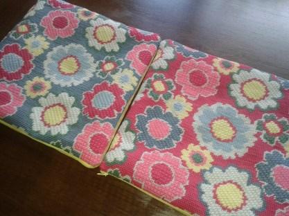 Needlepoint cushions