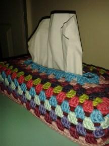 Brights tissue box cover
