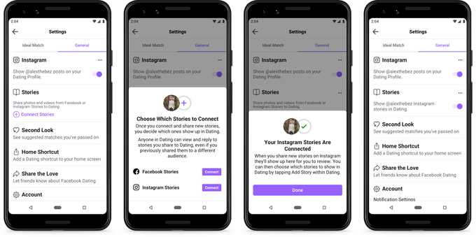 Instagram and Facebook Stories: View them together