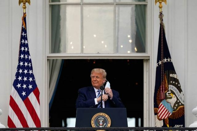 Donald Trump makes a remark on his immune from COVID-19