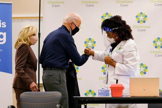 Joe Biden receives Pfizer's COVID-19 vaccine shot on live television
