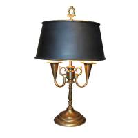 Vintage French Brass Bouillotte Lamp