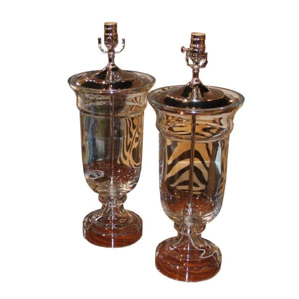 Antique Hand Blown Glass Lamps