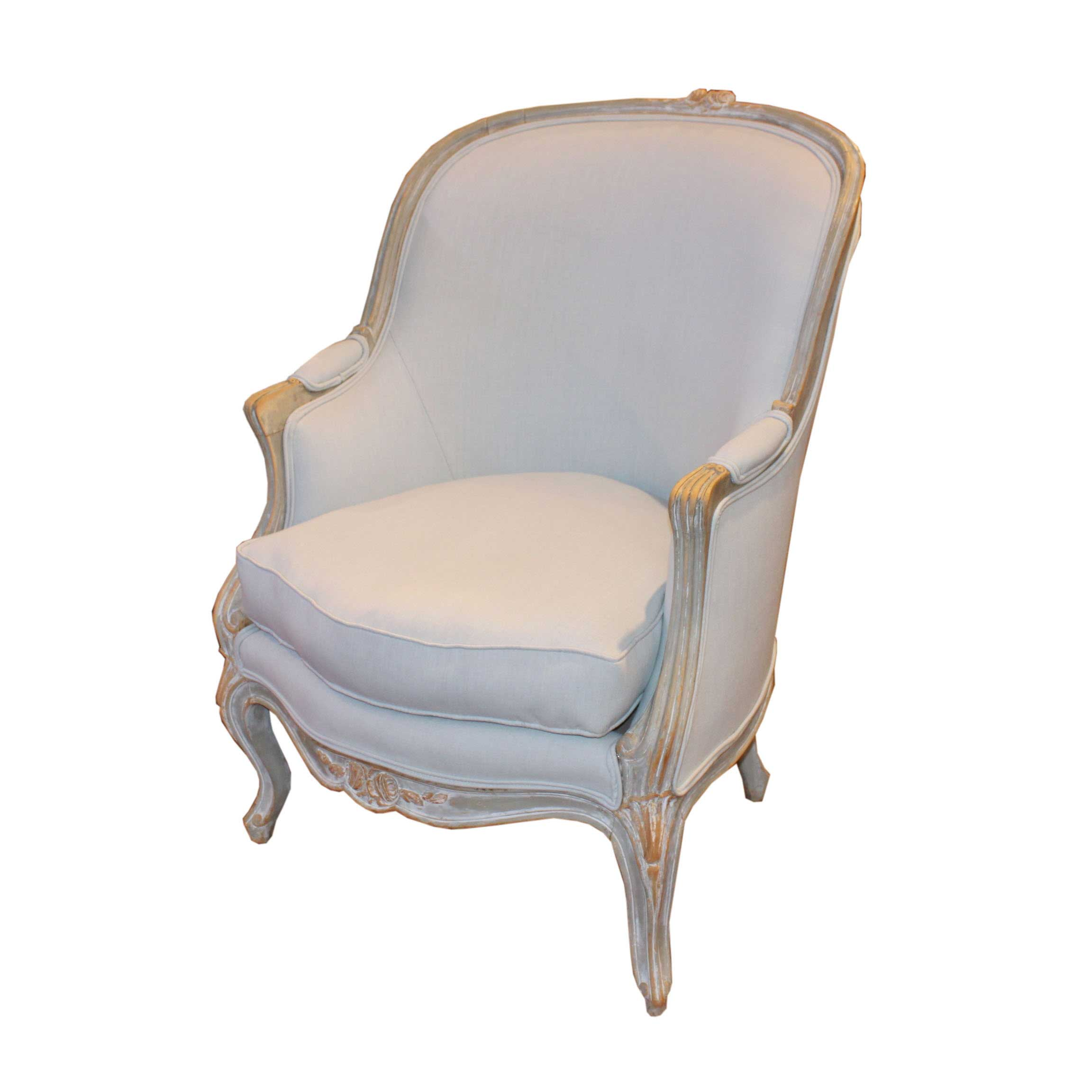 barrel back chair lightweight in a bag newly upholstered foxglove antiques galleries