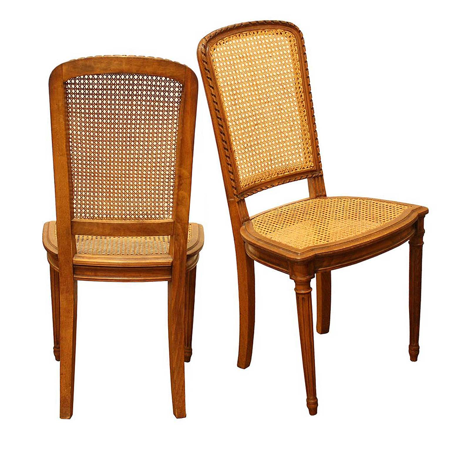 dining chairs with caning blue chair cover sash set of eight french vintage cane seats