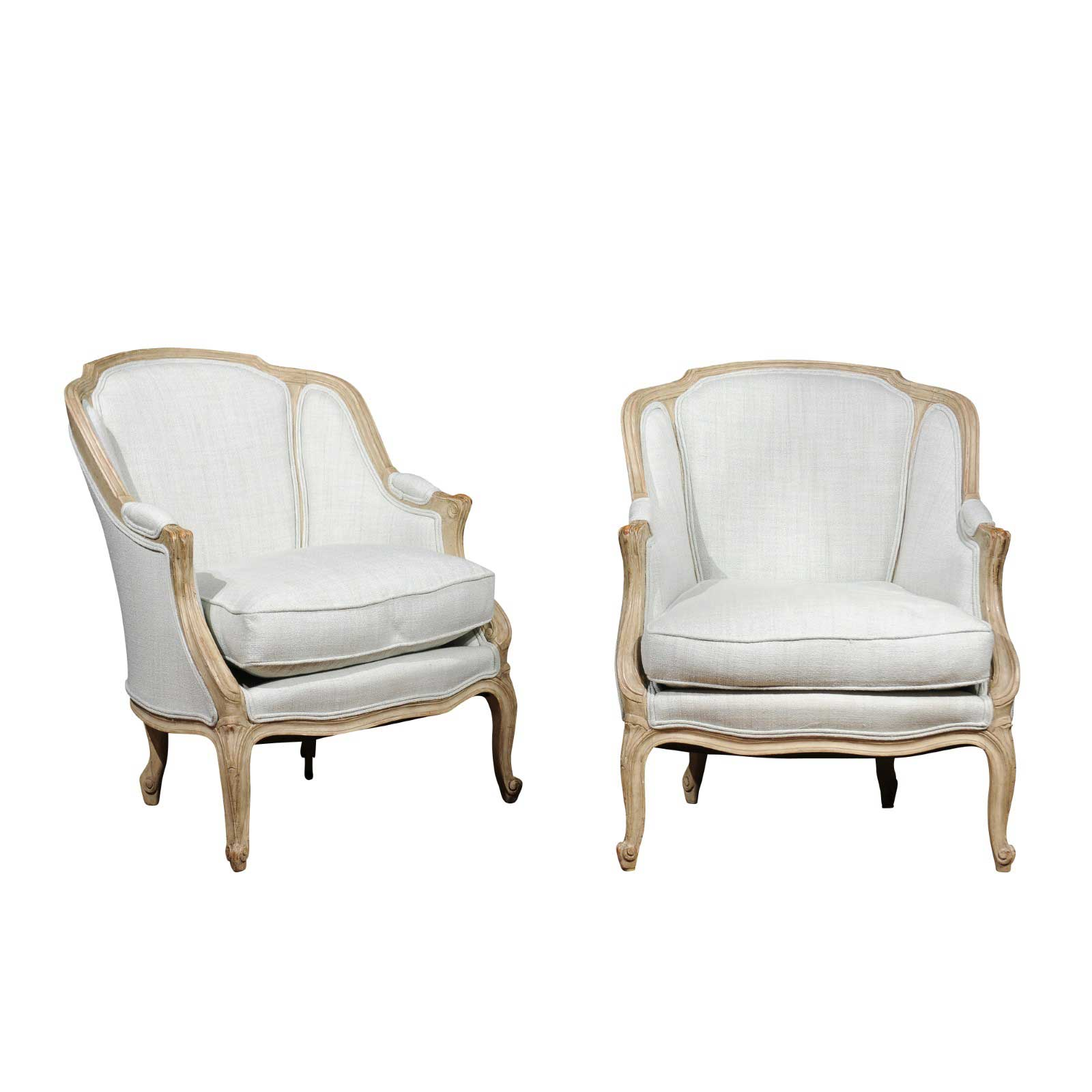 louis xv chair chairscape flooring pair of french style 1880s bergeres chairs with wraparound
