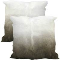 Brown and Cream Fur Pillows - Foxglove Antiques & Galleries