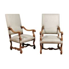 Bergere Dining Chairs Desk Chair For Home Office Pair Of Upholstered French Foxglove