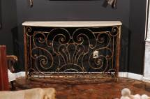 Console Table Parisian 1880s Wrought-iron