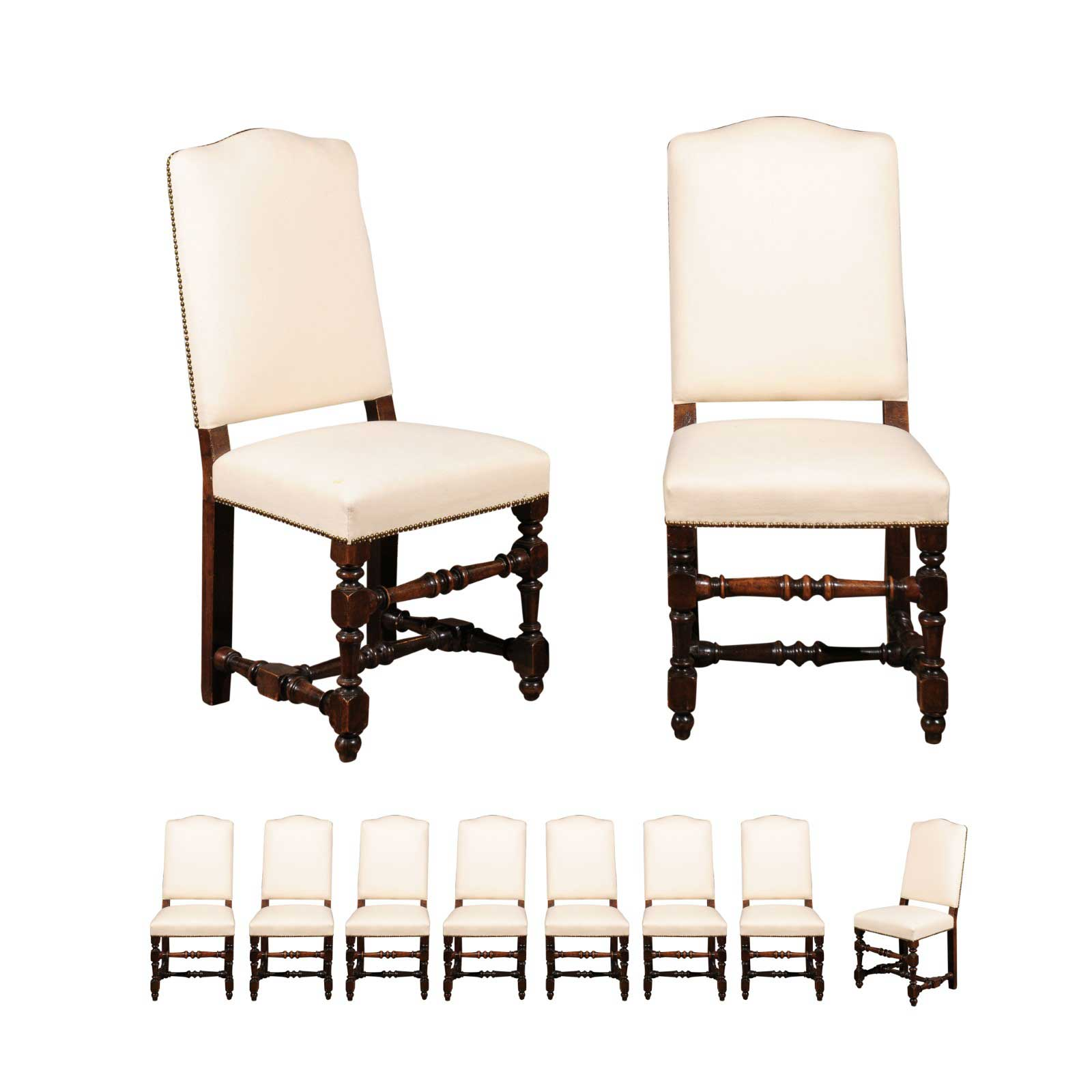 Italian Dining Chairs Italian Dining Chairs With Turned Legs And Stretchers