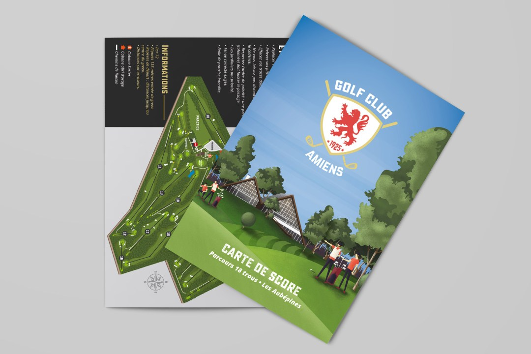 Tracé Parcours Golf-Club Amiens