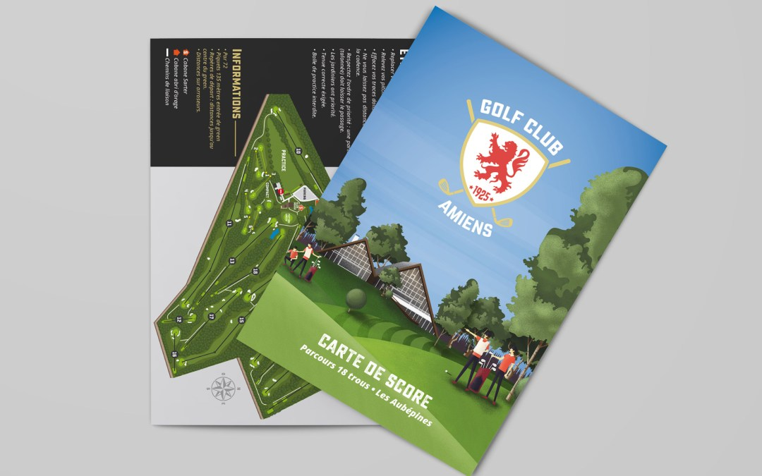 Tracé Parcours Golf-Club Amiens 2016