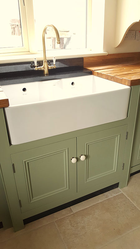 kitchen sink without cabinet stainless steel racks double belfast foxhall country kitchens and so further ado we acquired a beautiful crafted from our suppliers set about designing bespoke around it