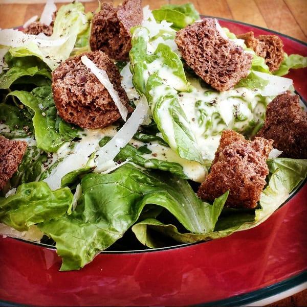 grain-free salad croutons