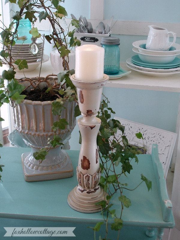 Shabby Home Decor DIY Distressed Candle Sticks Fox Hollow Cottage