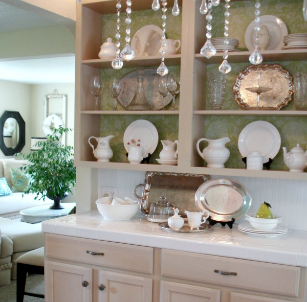 Open Cabinets In A Cottage Kitchen Fox Hollow Cottage