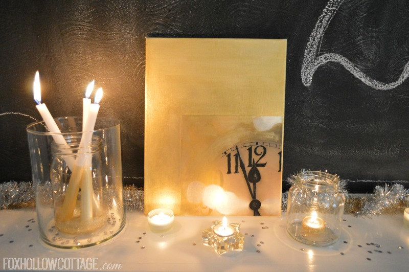 Mixed Metals New Years Eve Mantel Decorating Ideas  Fox