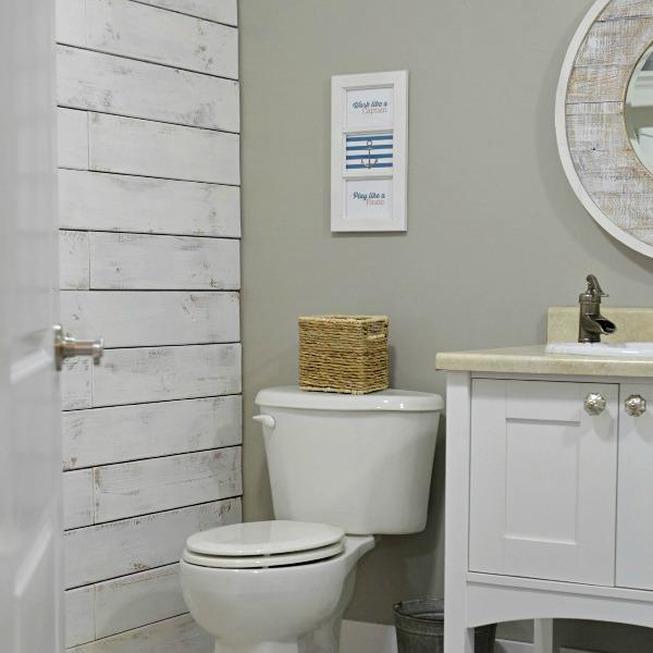 Nod To Nautical Bathroom Makeover Reveal  Fox Hollow Cottage